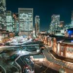 東京丸の内駅前 ネオン